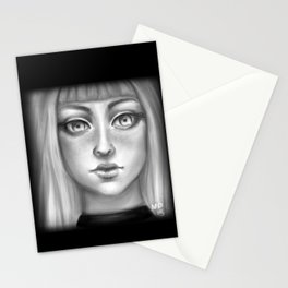 B&W Girl Stationery Cards