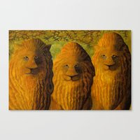 lions Canvas Prints featuring lions by giol's