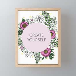 Create Yourself - Floral Wreath Framed Mini Art Print
