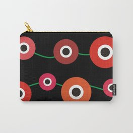 Red poppy circle on black Carry-All Pouch