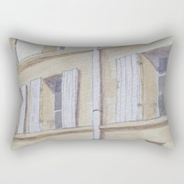 Narrow streets in Chinons old town (France) Rectangular Pillow