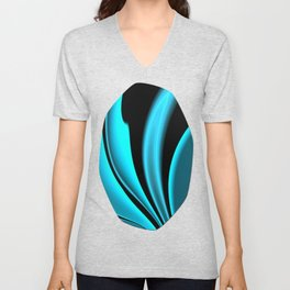 Abstract Fractal Colorways 02 Pacific Blue Unisex V-Neck