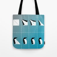 penguin Tote Bags featuring PENGUIN by ARCHIGRAF