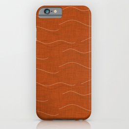 SHARK WHALE WAVES ORANGE iPhone Case