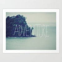 island Art Prints featuring Adventure Island by Leah Flores