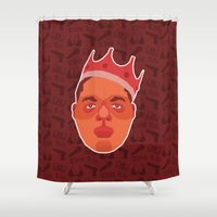 notorious Shower Curtains featuring Notorious B.I.G. by Kuki