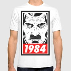 OBEY 1984 MEDIUM White Mens Fitted Tee
