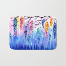 Feather Designs Bath Mat