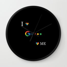 Love Google Culture Items Wall Clock