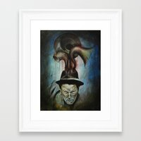 tom waits Framed Art Prints featuring Tom Waits by Victoria Lavorini