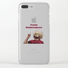 Khabib Nurmagomedov Number One Champion Art Clear iPhone Case