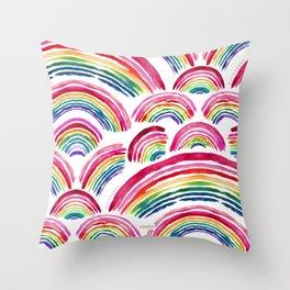 RAINBOWS ABOUND Throw Pillow