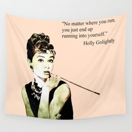 MISS GLOLIGHTLY - Breakfast at Tiffany´s - QUOTE Wall Tapestry