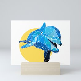 Poly Dolphin Mini Art Print