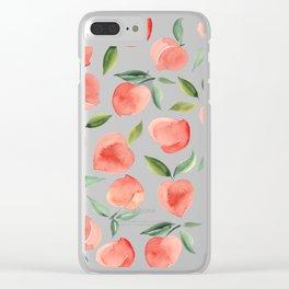 peaches Clear iPhone Case
