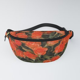 Red Rose Bouquet Fanny Pack