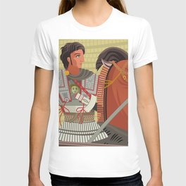 alexander the great mosaic riding a horse T-shirt