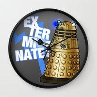 dalek Wall Clocks featuring Dalek by StudioMarimo