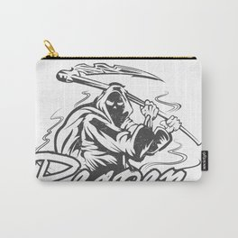Hand Inked Grim Reaper Illustration Carry-All Pouch