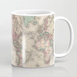 Vintage Map of The World (1870) Coffee Mug