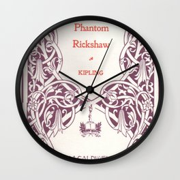 Antique Book * Literacy Art for Book Lovers * Rudyard Kipling  purple white #antiquebooks Wall Clock