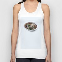 sriracha Tank Tops featuring Pho by Oobites