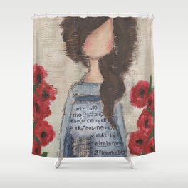 stir into the flame Shower Curtain