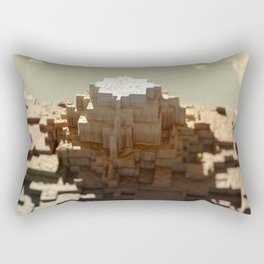 Temple mayan structure macro material structure building city landscape background Rectangular Pillow