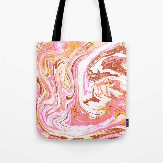 Marble + Rose Gold Dust #society6 #decor #buyart Tote Bag