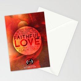 FAITHFUL LOVE ENDURES: PSALM 136:1 Stationery Cards