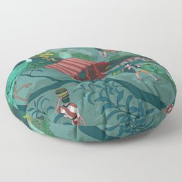 Ukiyo-e tale: The beginning of the trip Floor Pillow