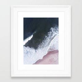 I love the sea - heart and soul Framed Art Print