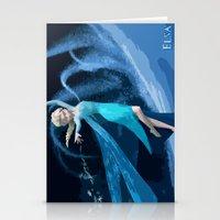 frozen elsa Stationery Cards featuring Elsa | Frozen by EcaJT