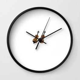 Violin or Fiddle The Difference is Attitude T-Shirt Wall Clock