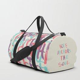 Hope Anchors the Soul Duffle Bag