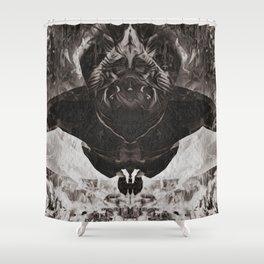 OBE B&W Shower Curtain
