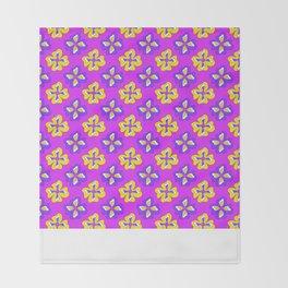 Pop pansy pattern! Throw Blanket