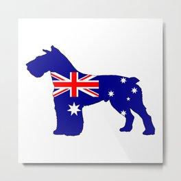 Australian Flag - Schnauzer Metal Print