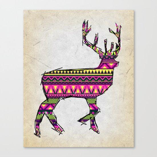 Deer Navajos pattern Canvas Print