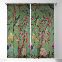 Green Dream Chinoiserie Blackout Curtain