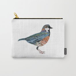 Typographic Sparrow Carry-All Pouch