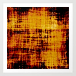 Orange and Brown Textured Abstract Art Print