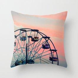 Winter Ferriswheel Throw Pillow