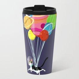 Flying Space Cat Travel Mug