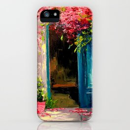Flower-filled patio iPhone Case