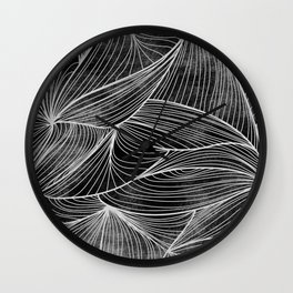Rifts Black & White Wall Clock