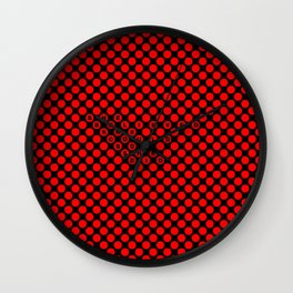 Polka / Dots - Quote Art Wall Clock