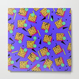 Seamless colorful pattern in retro style Metal Print