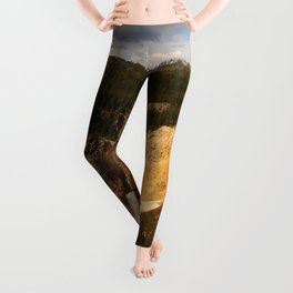 Majestic Yellowstone Upper Falls Leggings