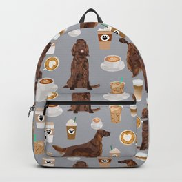 Irish Setter coffee latte dog breed cute custom pet portrait for dog lovers Backpack